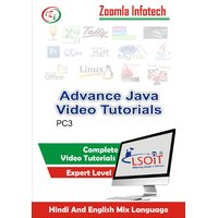 Advance Java Video Tutorials DVD By Zoomla Infotech (Hindi-English Mix Language DVD)