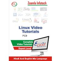 Linux Video Tutorials DVD By Zoomla Infotech (Hindi-English Mix Language DVD)