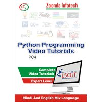 Python Video Tutorials DVD By Zoomla Infotech (Hindi-English Mix Language DVD)
