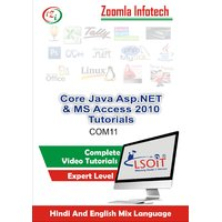 Core Java Programming + Asp.NET+ MS Access 2010 Video Tutorials DVD By Zoomla Infotech (Hindi-English Mix Language DVD)