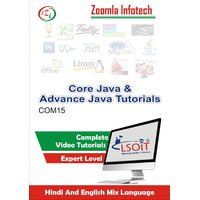 Core JAVA+ADVANCE JAVA Video Tutorials DVD By Zoomla Infotech (Hindi-English Mix Language DVD)