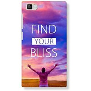 Redmi Mi3 Back Cover  Find Your Bliss  by BlueAdda