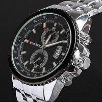 Curren Men's Stainless Steel Quartz Wrist Watch Silver