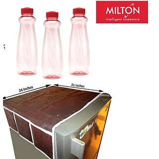 Combo- Fridge Top Cover with Milton Water 3 Bottles