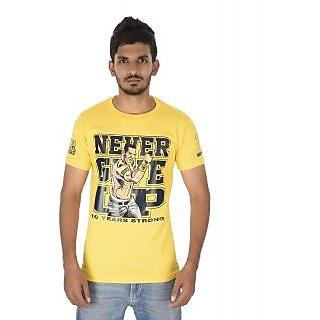 John Cena Never Give up Mens TShirts Yellow