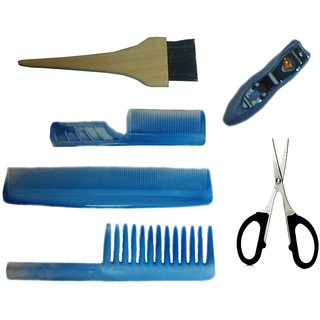 Comb set with Nail cutter Scissor Hair Brush