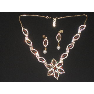 Studded Diamond Ethnic Necklace