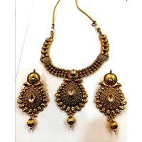 Designer Jewellery Antique Necklace With Gold Plated