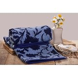 Trident Floral Jacquard Hand Towels (Set Of 2) Blue