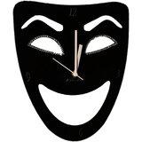 Zeeshaan Black Mask Wall Clock