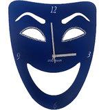Zeeshaan Blue Mask Wall Clock