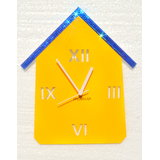 Zeeshaan Yellow Blue Hut Wall Clock