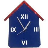 Zeeshaan Blue & Red Hut Wall Clock