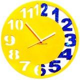 Zeeshaan Yellow & Blue Engraved Wall Clock