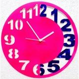 Zeeshaan Pink & Blue Engraved Wall Clock