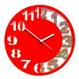 Zeeshaan Red Silver Engraved Wall Clock
