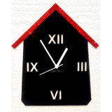 Zeeshaan Red Black Hut Wall Clock