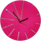 Zeeshaan Round Diamante Pink Wall Clock