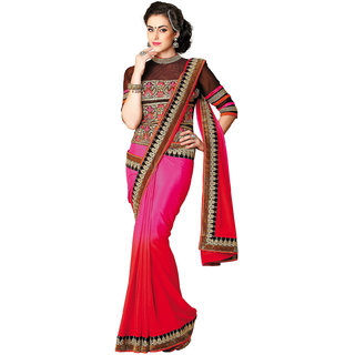 Multicolor Chiffon Wedding Saree Aesha_3707