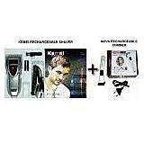 Stylish Kemei Rechargeble Shaver With Nova Rechargeble.