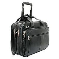 100% Genuine Leather Executive Trolly Bag