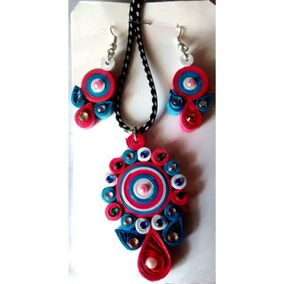 Designer handmade paper quilled jewellery earrings and for Quilling kitchen set