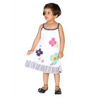 Lil Orchids Floral Printed Girls Casual Dress LO-001-PURPLE