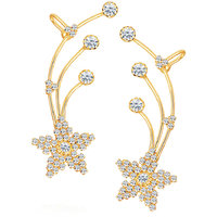 Sikka Jewels Classic Gold Plated Australian Diamond Earcuff