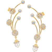 Sikka Jewels Gold Plated Gold Alloy Studs For Womens