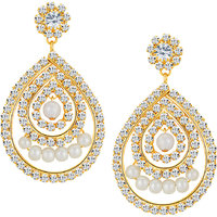 Sikka Jewels Splendid Gold Plated Australian Diamond Earring
