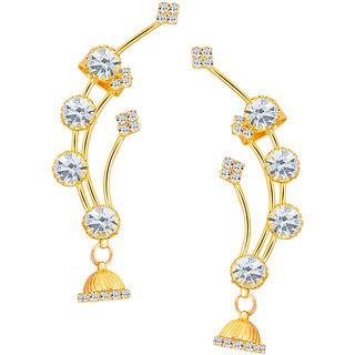 Sikka Jewels Lavish Gold Plated Australian Diamond Earcuff