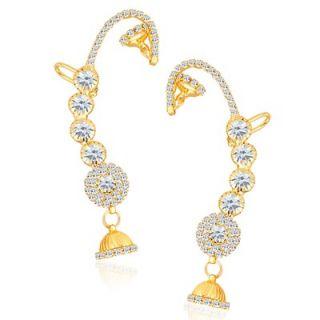 Sikka Jewels Attractive Gold Plated Australian Diamond Earcuff