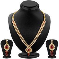 Sikka Jewels Divine Gold Plated Australian Diamond Necklace Set