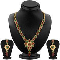 Sikka Jewels Fashionable Gold Plated Australian Diamond Necklace Set