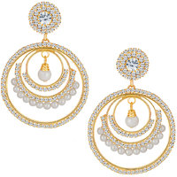 Sikka Jewels Sublime Gold Plated Australian Diamond Earring