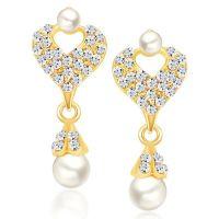 Sikka Jewels Pleasing Gold Plated Australian Diamond Earring