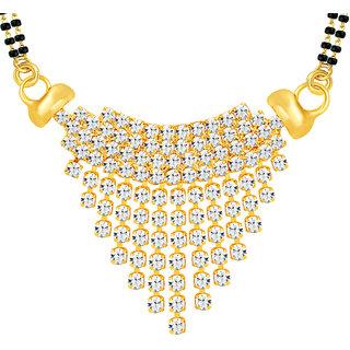 Sikka Jewels Incredible Gold Plated Australian Diamond Mangalsutra Pendant