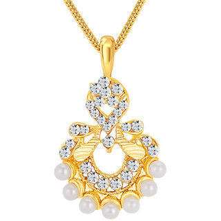 Sikka Gold Plated Gold Pendants Chains For Women