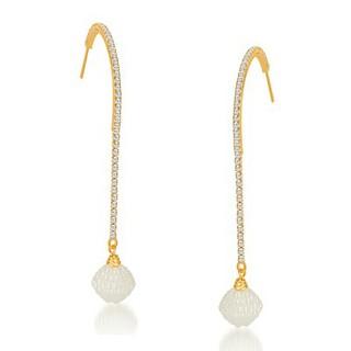 Sikka Jewels Fascinating Gold Plated Australian Diamond Earring
