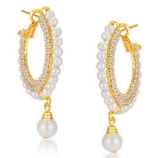 Sikka Jewels Stylish Gold Plated Australian Diamond Earring