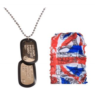 Jstarmart Square Pendent Necklace With Bandana  JSMFHNL0146