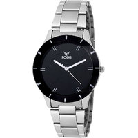 Fogg Round Dial Silver Metal Strap Womens Watch