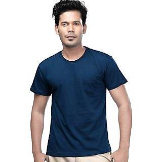 Airforce Blue Casual Hipster Fit T Shirt