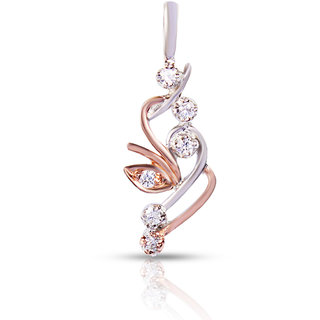 Zevrr Sterling Silver Pendant Made With Swarocski Zirconia (Pzsp03073)