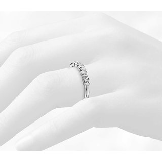 Zevrr Sterling Silver Ring made with SWAROCSKI ZIRCONIA (PZSR01480)