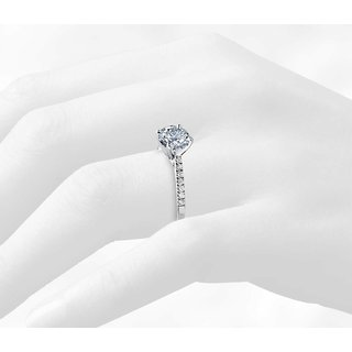 Zevrr Sterling Silver Ring made with SWAROCSKI ZIRCONIA (PZSR01527)