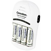 Camelion BC 1007with 0 Battery Charger(Free 1 Pack Of Alkaline Battery)
