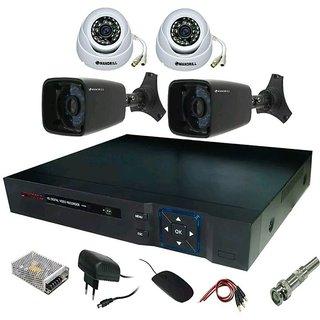 2 PC INDOOR + 2 PC OUTDOOR 700 TVL NIGHT VISION SECURITY CCTV CAMERA + 8 CH DVR