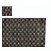 Shade Of Brown Basket Weave Table Mat, Set Of 4+4