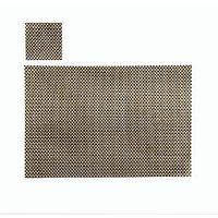 Light & Dark Brown Basket Weave Table Mat, Set Of 4+4